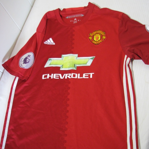 best website 2a5c0 f9eaa Authentic Manchester United Adidas Soccer Jersey
